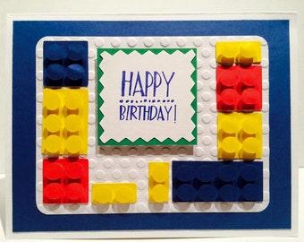 Happy Birthday Block Card