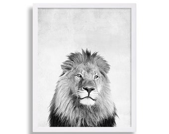 King of the Jungle Lion Print Animal Print African Art Animal Poster Game Room Art Animal Portrait Nursery Decor Boys Room Print Baby Shower