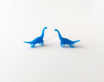 Plesiosaur Studs, Loch Ness Monster, Dinosaur Studs, Laser Cut Earrings, Statement Earrings, Dinosaur Earrings
