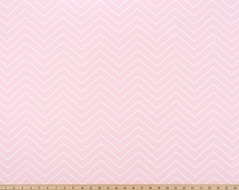Bella pink   & White Fabric. Bella Pink and white Zigzag Print. Premier Prints. Cotton. Home decor fabric.  Fabric by yard