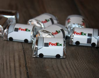 Delivery Truck Candy Wrapper Instant Download, UPS Truck Candy Wrapper, FEDEX Candy wrapper, Mail Carrier Christmas, Mail truck printable