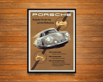 Reprint of a Vintage 1955 German Vehicle Makers Poster