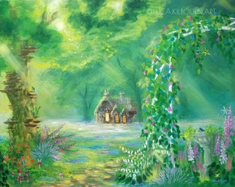 """Acrylic Painting """"Grandma's Garden"""" 