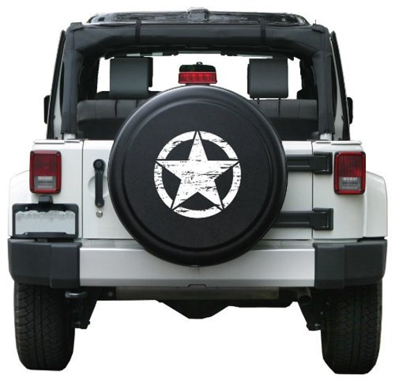 Decal Sticker For Jeep Wrangler Rubicon Spare Tire Cover