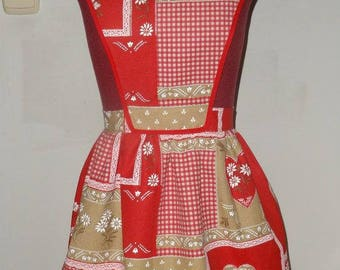 Vintage pattern Apron for Christmas days.