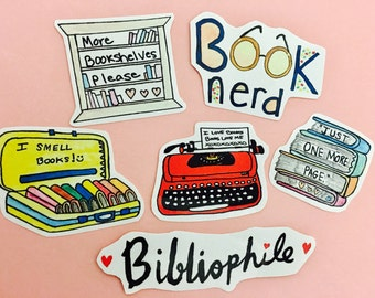 English nerd stickers, gifts for bookworms, writer gifts, bibliophile stickers, English Teacher stickers,book lover sticker,literary sticker