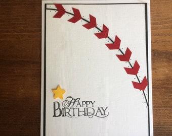 Baseball birthday card