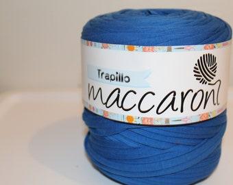 T-Shirt Yarn/Royal Blue, Maccaroni T-Shirt Yarn, Fabric Yarn. Recycled Yarn. Trapillo,.Trapilho . . 140- 150 meters Yarn. 150- 160 yards