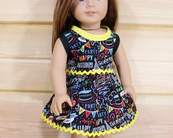 "Birthday Dress for 18"" Doll"