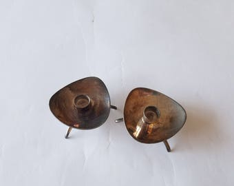 Pair of Vintage Silver Candle Holders