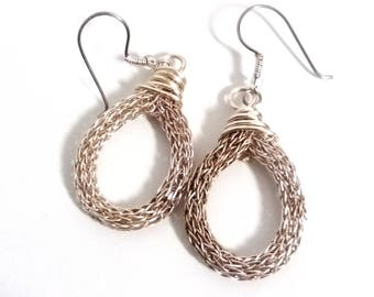 Viking Knit Earrings - Simple Woven Earrings