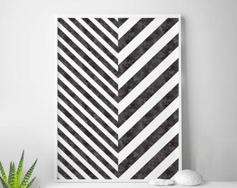 Stripes, Scandinavian Art, Striped, Black and White Stripe, Scandinavian Print, Scandinavian Design, Scandinavian Poster Nordic Design