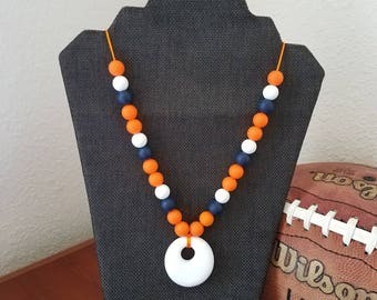 Auburn Silicone bead Teething Necklace, Chewelry