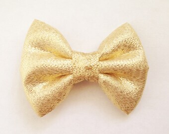 The Metallic Gold Foil Handmade Bow (Handmade Bow / Bow Tie / or Headband)
