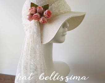 SALE white 1920's  Hat Vintage Style hat winter Hats hatbellissima ladies hats millinery hats cloche Hats Bridal Hat