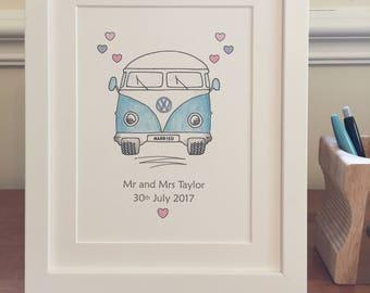 Personalised wedding gift- unframed