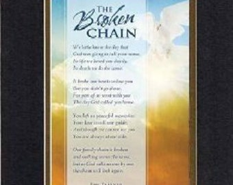 Plaque for Inspirations  – The Broken Chain . . . 8 x 10 Double-Beveled Matting