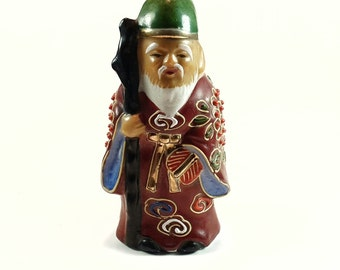 Jurojin Kutani Porcelain God of Longevity 7 Gods of Good Fortune