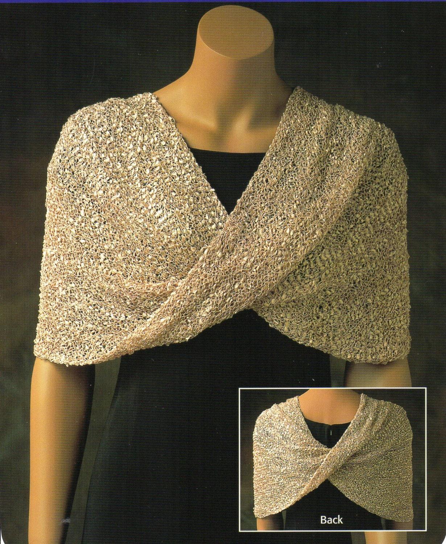 Mobius Shawl Poncho Knitting Pattern Womens Reversible Poncho Shawl ...