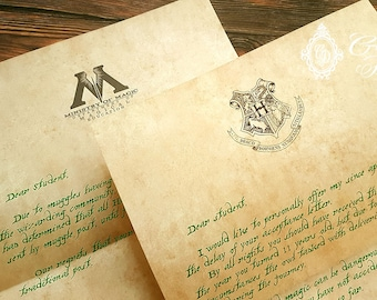 Late Delivery / Owl Post apologize addition to your Hogwarts acceptance letter, or your own custom text!
