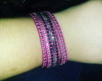 pink jeweled bracelet