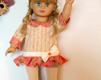 18 Inch Doll Ruffled Dress