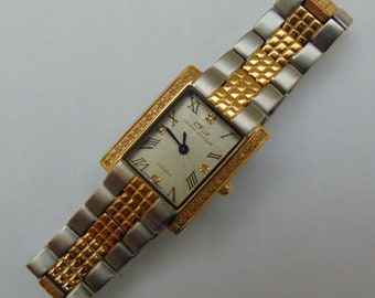 Ladies Mid Sized Daniel Steiger Sienna Quartz Watch, Swiss Movement, 2 tone