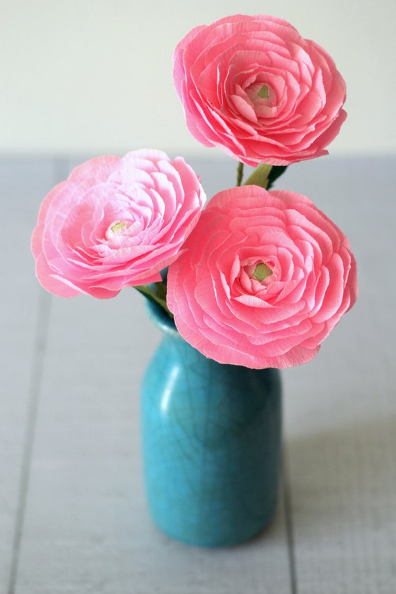 Paper ranunculus paper flowers for mothers day mightylinksfo