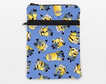 "iPad Pro 12.9""Case, Galaxy Tab Pro 10.1 Sleeve, Kindle Oasis Pouch, iPad Mini 2, 4  Zipper Bag, Surface Book - Minions in blue"