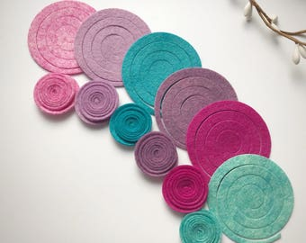 Flora Dream Small Rolled Felt Flower Packs
