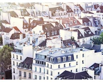 Paris rooftops, Paris architecture, Paris photography, fine art photography, travel photography, Paris home decor, white wall art