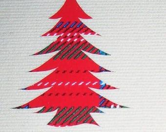 Iron on fir tree appliques