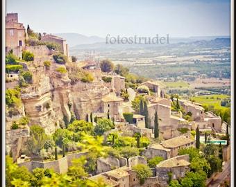 Gordes, Southern France - Provence Photograph. Cliffhanger. 8x8