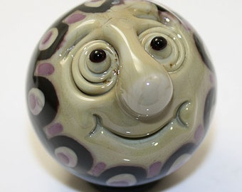 "Man in the Moon-Dala Marble in earth tones  1 1/2""  Brad Pearson SRA"