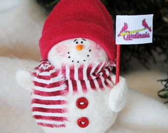 St. Louis Cardinals Snowman Ornament
