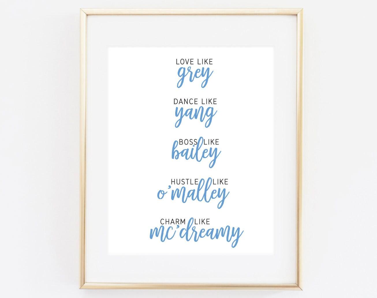 Grey\'s Anatomy Print Love Like Grey... Grey Sloan