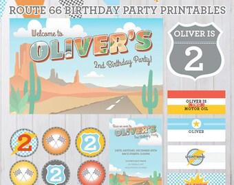 Radiator Springs Vintage Cars Birthday Party Printables