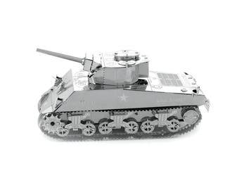 Metal Earth - Sherman Tank 3D Metal Model kit/puzzle - MMS204