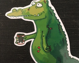 Edward the alligator - vinyl sticker