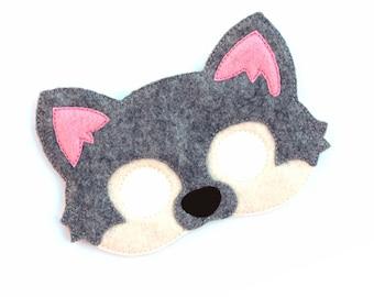Kids Grey Wolf Mask Wolf Costume Dog Felt Mask Kids Face Mask Animal Mask Halloween Costume Pretend Play Dress Up Party Favors  sc 1 st  Etsy & 60% OFF SALE Big Bad Wolf Mask Printable wolf costume animal