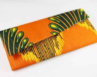 Statement Clutch Upcycled African Print