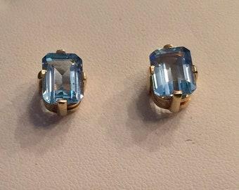 vintage aquamarine earings