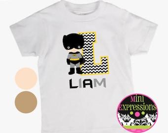 Batman Inspired Personalized shirt You Pick Skin Tone