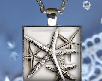 Simple Starfish Pendant, Necklace or Key Chain - Summer, Starfish, Starfish Necklace, Ocean