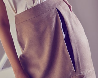 Free Me Tan Pleated Skirt