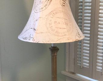French Lamp Shade, French Country, Paris Lamp Shade, Lamp Shade, Bell Shaped Lamp Shade, Neutral Lamp Shade