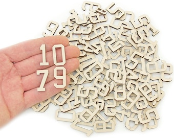110pcs. Wooden Numbers (2,5cm) Wood Numbers Embellishments Shapes Art Craft Decoration MG000691