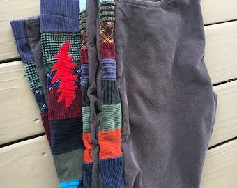 Mens patchwork pants, side panel pants, hippie patchwork, 13 point bolt, mens Grateful Dead, mens corduroys, mens festival, patchwork cords