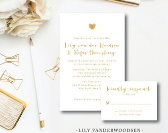 Lily VanDer Suite | Wedding Invitation & additional pieces | Printed by Darby Cards Collective