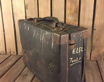 Vintage Metal Electrical and Tool Box